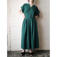 Pleated Bodice Design Dress GR