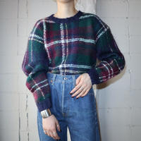 Mohair Check Sweater GRNV