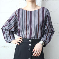 Stripe Pullover Blouse PURGR