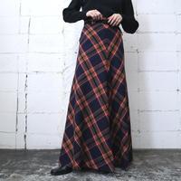 1970's Plaid Long Skirt NVRE