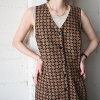 Small Pattern Sleeveless Dress BR