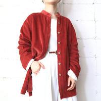 Band Collar Corduroy Shirt OR