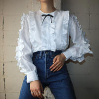 Frilled Bodice Pull Over Blouse WH