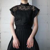 French Sleeve Lace Blouse BK