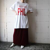 ''PHIL'' Print Big Tee WH