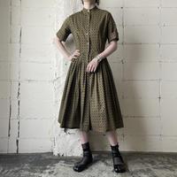 1950-60s Vintage Small Pattern  Dress KA