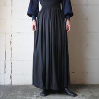 Waist Gather Flared Skirt BK