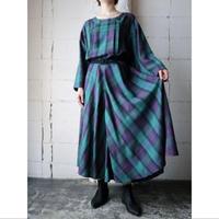 Wide Sleeve Check Dress NVGR