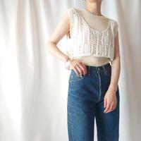 Crochet Short Vest WH