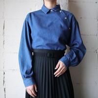 Side Open Denim Shirt BL