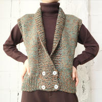 Mix Yarn Double Breasted Vest GROR