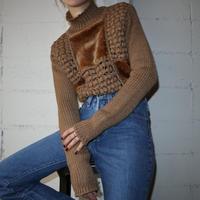 Vintage Fake Fur Mix Sweater CM