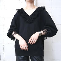 Crochet Collar & Cuff Knit BK