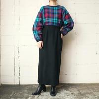 Wool Tight Long Skirt BK