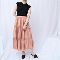Pleated Tiered Skirt SPI