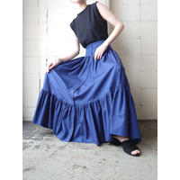 Front Button Tiered Skirt BL