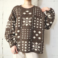 Hand Knit Pattern Sweater BRIV