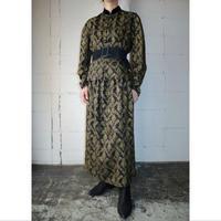 China Button Pattern Dress BK