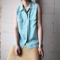 Sleeveless Silk Shirt BL
