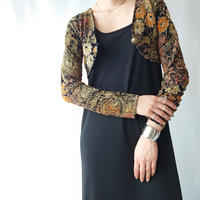 Flower Pattern Lace Short Cardigan BKOR