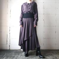Flat Collar Stripe Dress BKPUR