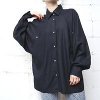 Raglan Sleeve Rayon Shirt BK