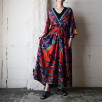 Pattern Cache Coeur Dress BK