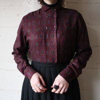Arabesque Pattern Double Breasted Blouse BUR