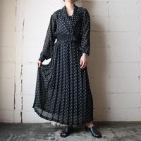 Small Pattern See though Dress BK