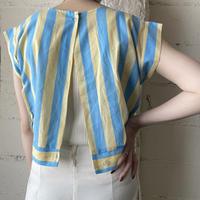 Back Open Stripe Blouse BL YE