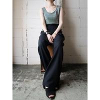 Sleeveless Bi Color Jump Suit BK SV