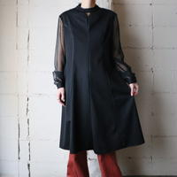 See-though Sleeve Dress BK