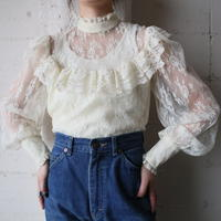 Stand Collar Lace Blouse IV