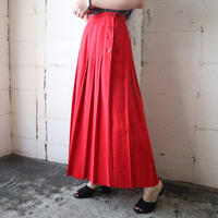 Side Button Pleated Skirt RE