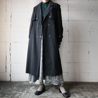 Snap Button Trench Coat BK