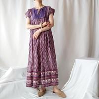 60~70's Indian Cotton Dress PUR