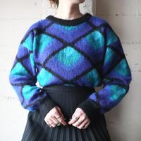 Mohair Mix Pattern Sweater BL