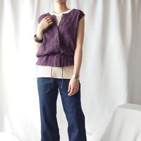 Drawstring Knit Vest PUR