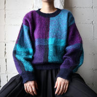 Mohair Check Sweater PUR