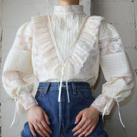 Vintage Lace&Pin Tuck Blouse IV