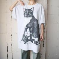 Cat Print Big Tee LGR
