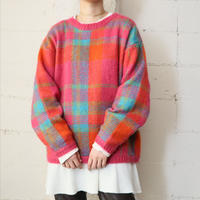 Mohair Mix Check Knit PIGRBL