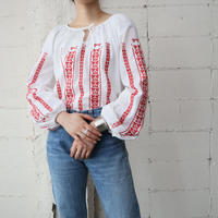 EURO Embroidery Blouse WHRE