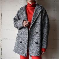 Tweed Short Coat BKWH