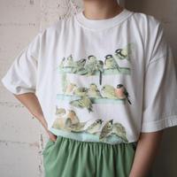 Bird Print Tee WH