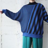 Dolman Sleeve Stripe Sweater BLBK