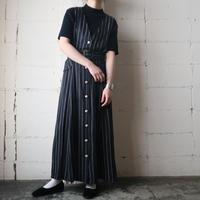 Stripe Jumper Skirt BKWHRE