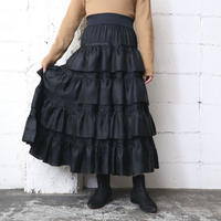 Tiered × Pleated Skirt BK