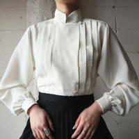 Stand Collar Pleated Blouse IV