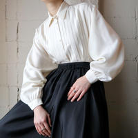 Pleated Bodice Silk Blouse IV